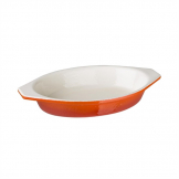 Vogue Orange Oval Cast Iron Gratin 650ml