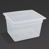 Vogue Polypropylene 1/2 Gastronorm Container with Lid 200mm (Pack of 4)