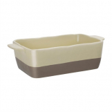 Olympia Cream And Taupe Ceramic Roasting Dish 2.5Ltr