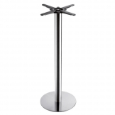 Boston - Brushed Steel Small Round Poseur Table Base