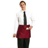 Chef Works Short Bistro Apron Burgundy