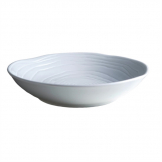 Pillivuyt Teck Shallow Round Bowl 260mm White (Pack of 6)