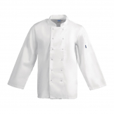 Whites Vegas Unisex Chef Jacket Long Sleeve White - M