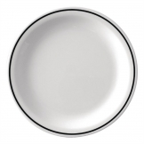 Kristallon Black Band Melamine Side Plates 160mm