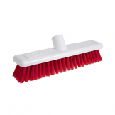 Jantex Hygiene Broom-Head Soft Bristle Red 12in
