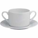 Elia Glacier Fine China Handled Soup Cups 220ml (Pack of 6)