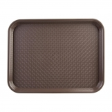 Kristallon Small Polypropylene Fast Food Tray Brown 345mm
