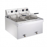 Parry Twin Tank Twin Basket Countertop Electric Fryer NPDF9