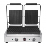 Buffalo Bistro Double Ribbed Contact Grill