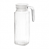 Olympia Ribbed Glass Jugs 1Ltr (Pack of 6)