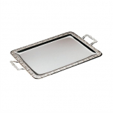 APS Stainless Steel Rectangular Handled Service Tray 600mm