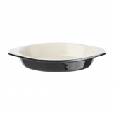 Vogue Black Cast Iron Oval Gratin Dish 650ml