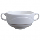 Steelite Bianco Handled Soup Cups 284ml (Pack of 36)