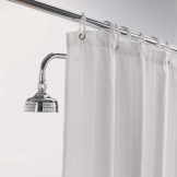 Luxury Satin Stripe Shower Curtain White 1800mm