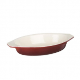 Vogue Red Oval Cast Iron Gratin Dish 650ml