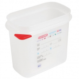 Araven Polypropylene 1/9 Gastronorm Food Storage Container 1.5Ltr