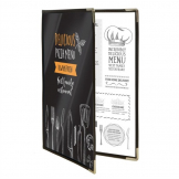 Securit Crystal Double Sided Menu Cover A4 Double