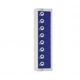 Elite Personal Effects Locker 8 Door Blue Camlock