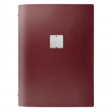DAG Fashion Leather Menu Cover A4 Bordeaux