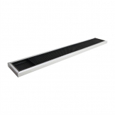 Beaumont Rubber Bar Mat with Stainless Steel Frame 600 x 100mm