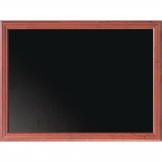 Securit Wall Mounted Blackboard 1000 x 800mm Mahogany