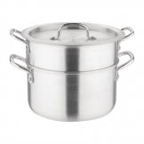 Vogue 240(W)mm Aluminium Double Boiler Pan 4Ltr