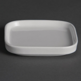 Olympia Flat Miniature Dishes 93mm (Pack of 12)