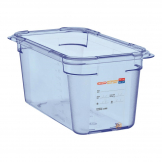 Aravan ABS Food Storage Container Blue GN 1/4 150mm