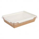 Colpac Fuzione Recyclable Paperboard Food Trays With Lid 1000ml / 35oz