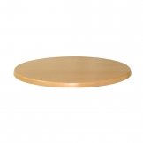 Werzalit Pre-drilled Round Table Top  Planked Beech 600mm