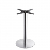 Boston - Brushed Steel Small Round Dining Table Base