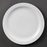 Olympia Whiteware Narrow Rimmed Plates 280mm (Pack of 6)