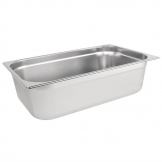 Vogue Stainless Steel 1/1 Gastronorm Pan 150mm