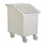 Fletcher Mobile Ingredient Bin 90Ltr White