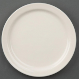 Olympia Ivory Narrow Rimmed Plates 150mm (Pack of 12)
