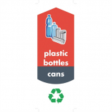 Rubbermaid Bottle and Can Recycling Stickers (Pack of 4)