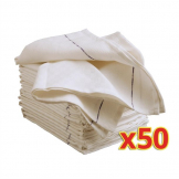 Bulk Buy Pack of 50 Cotton Waiting Cloths