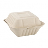 Fiesta Green Compostable Bagasse Burger Boxes Natural Colour 152mm (Pack of 500)