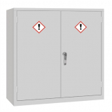 COSHH Cabinet Double Door Grey 30Ltr