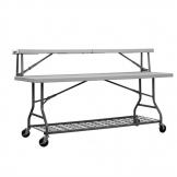 ZOWN Buffet Table Top Shelf 1840mm Grey