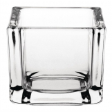 Olympia Glass Tealight Holder Square Clear (Pack of 6)