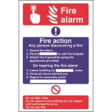 Fire Alarm / Fire Action Sign