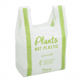 Vegware Compostable PLA Carrier Bags Medium (Pack of 500)