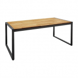 Bolero Acacia Wood and Steel Rectangular Industrial Table 1800mm