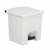 Rubbermaid Step On Pedal Bin White 30.5Ltr