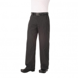 Chef Works Unisex Professional Series Chefs Trousers Grey Herringbone Stripe 2XL