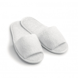 Essentials Open Toe Flipflops White (Cotton Towelling)