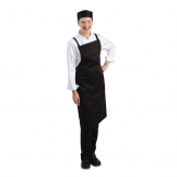 Whites Southside X-Cross Back Bib Apron Black