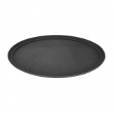 Kristallon Polypropylene Oval Non-Slip Tray Black 685mm