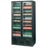 Infrico Upright Back Bar Cooler with Hinged Doors in Black ZX20
